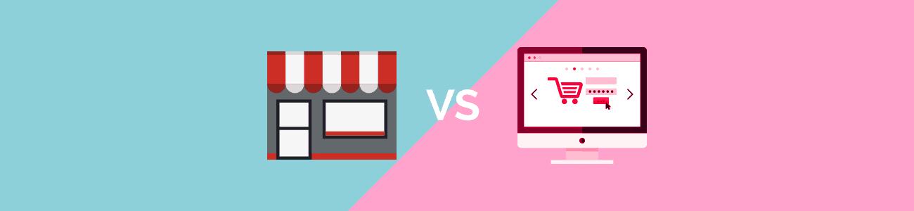 As diferenças entre uma loja física e virtual