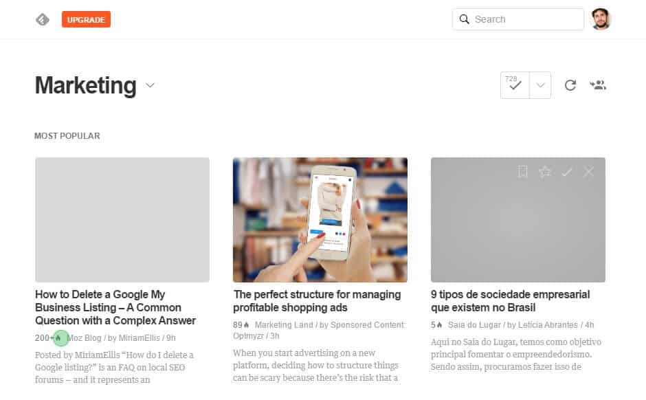 feedly marketing de conteúdo
